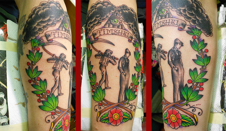 americana cain and abel custom tattoo
