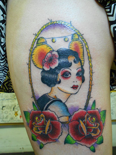 americana china girl tattoo