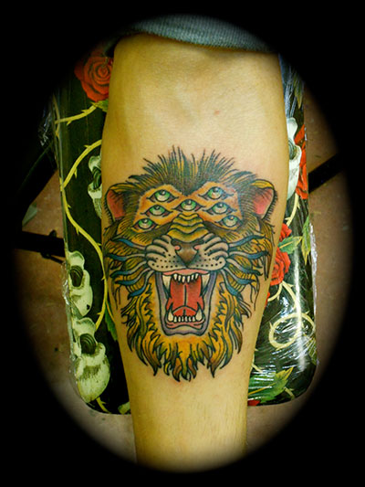 chimera lion americana tattoo