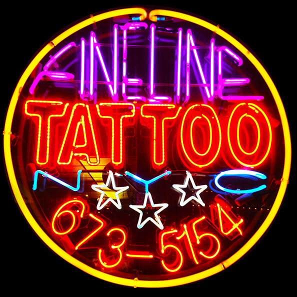 fineline tattoo nyc lower east side classic neon sign